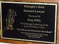 Georgia Samauri Lawyer Award